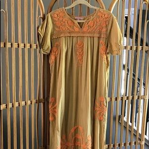 Calypso St. Barth Hand Embroidered Cotton Dress